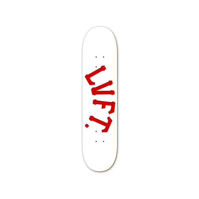 Varsity Skate Deck- White/Red