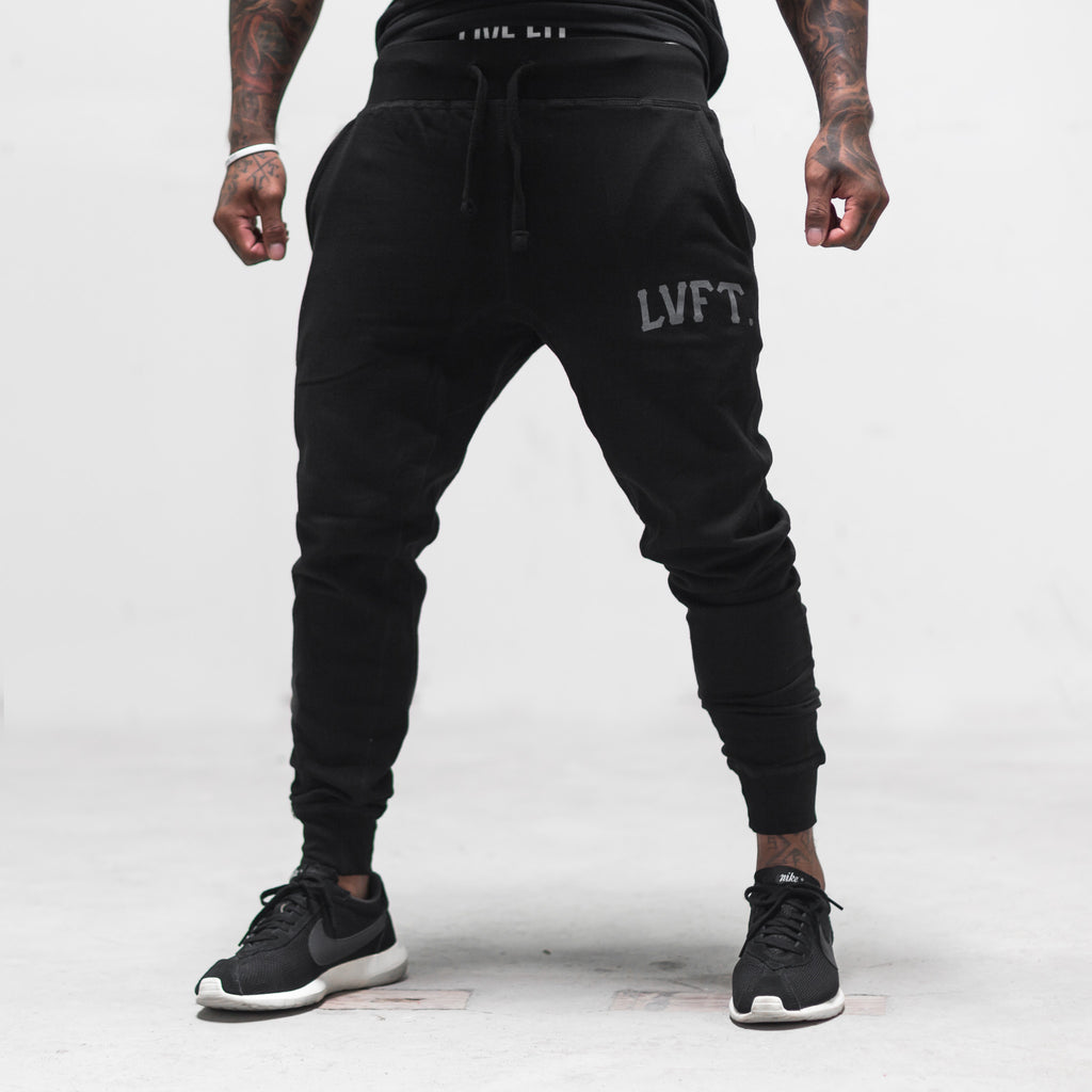 Varsity Jogger Sweat Pants - Black