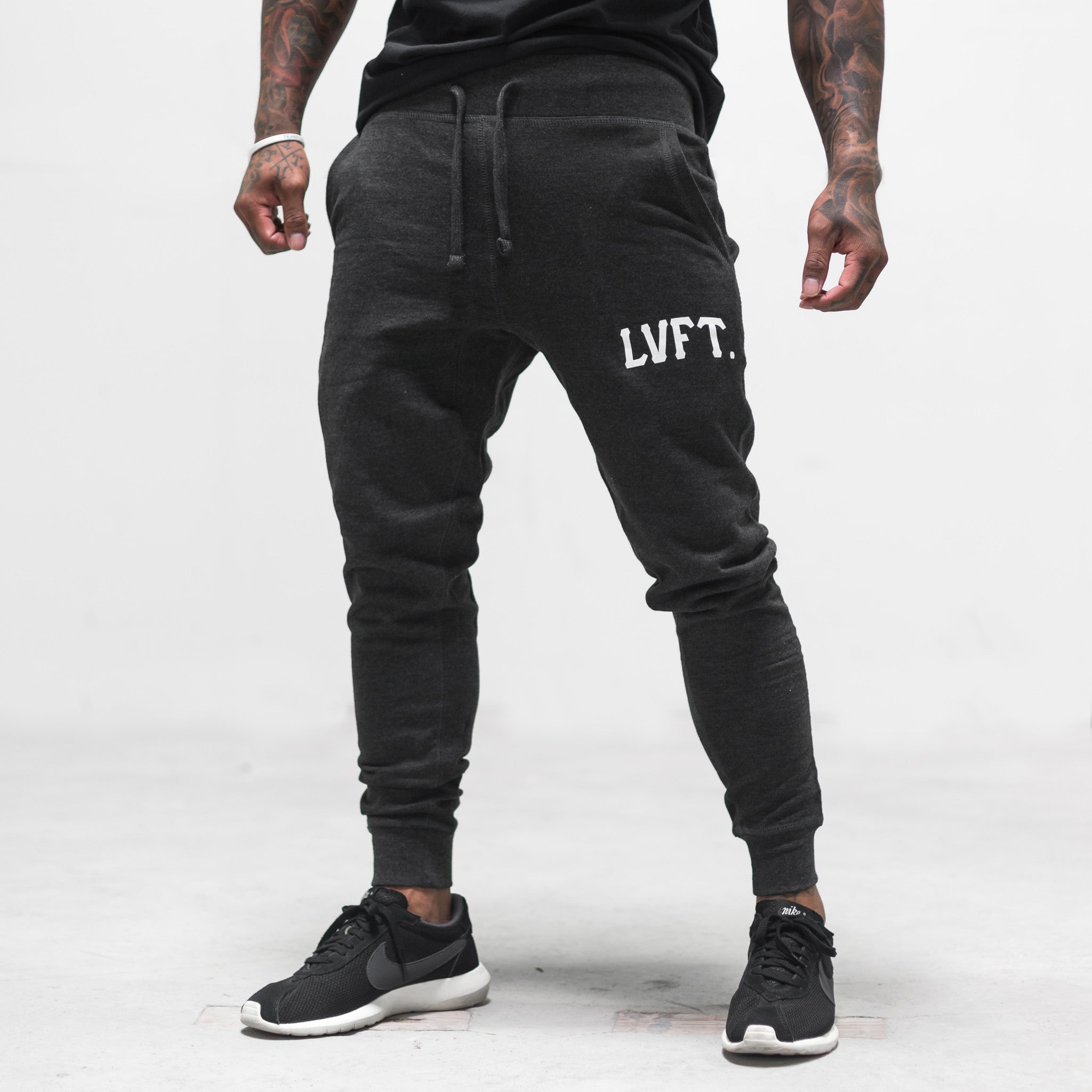 Varsity Jogger Sweat Pants - Charcoal