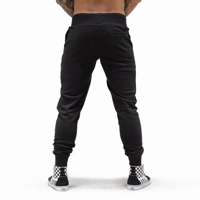 Live Fit Apparel Oversized Varsity Joggers - Black - LVFT