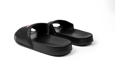Live Fit Apparel LVFT. Varsity Slides - Black/Red - LVFT