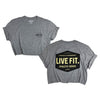 Work Badge Crop Tee - Heather Grey