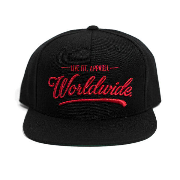 Worldwide Hitters Snapback- Black/Red