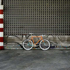 bike orange aix fixie fixed bicicleta lamona