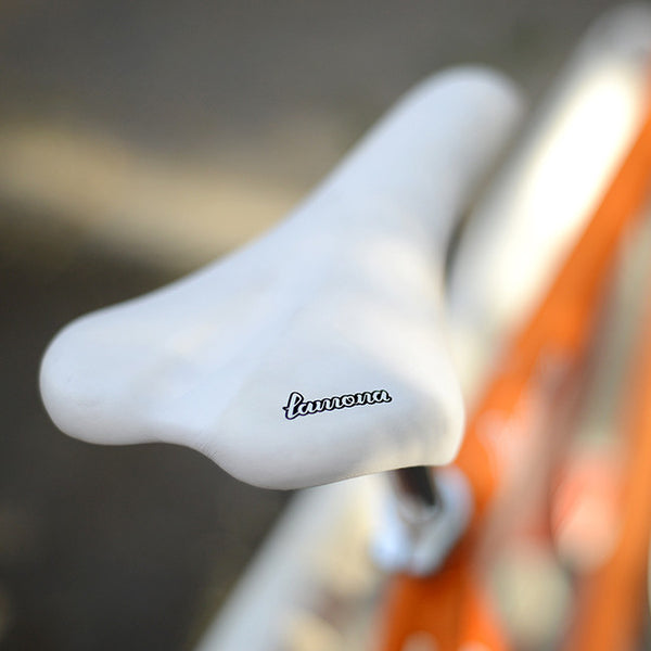 saddle white chronos aix orange fixie fixed bike