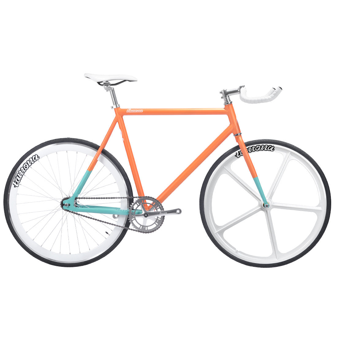 chronos aix orange fixie fixed bike lamona