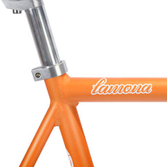 frame seatpost chronos aix orange fixie fixed bike