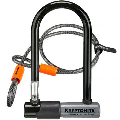 lock kryptonite kryptolok black orange