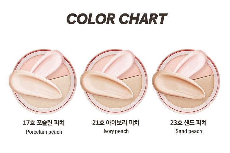 CANDYLAB Double Pop Peach Dewy Tone Up & Cover Cushion
