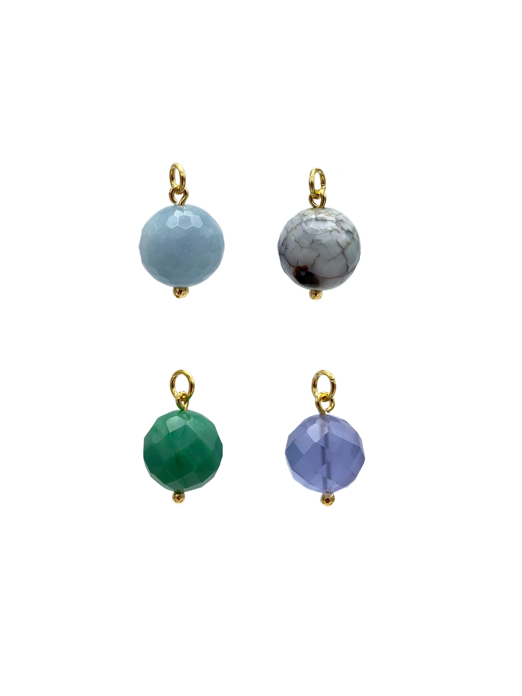 16MM Faceted Ball Earring Charms-Womens Charms for Earrings-JAREDJAMIN Jewelry Online-Aquamarine Ball Charm-JARED JAMIN
