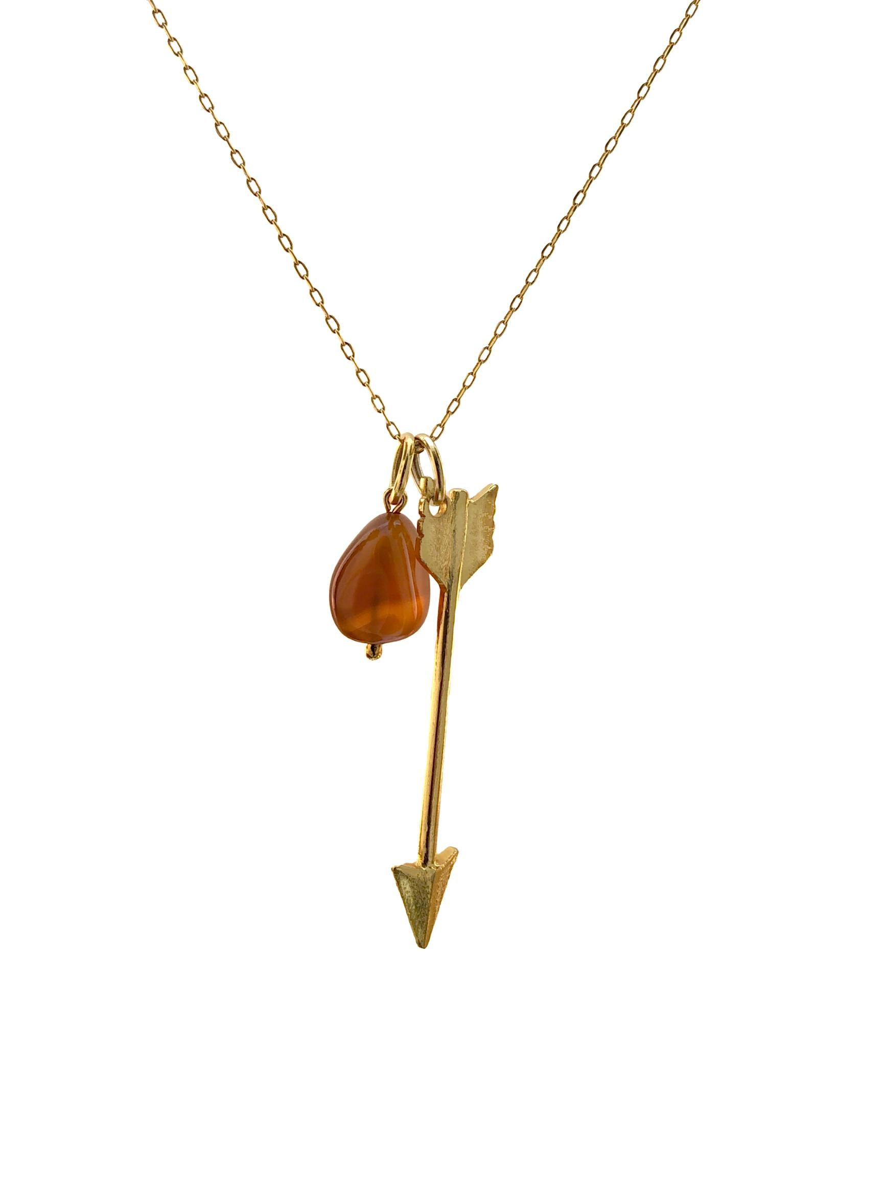 Gold Arrow Necklace Pendant Charm-Pendant Charms-JAREDJAMIN Jewelry Online-JAREDJAMIN - Fashion Jewelry & Accessories