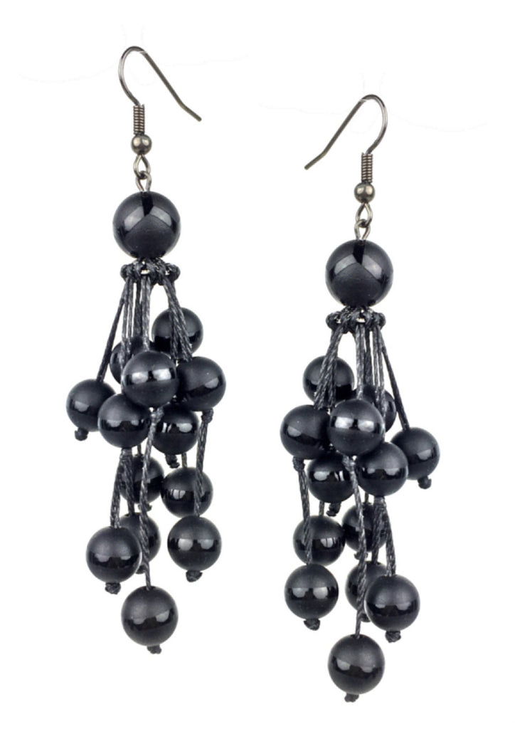 Black Berry Bush Earrings-Earrings-Jared Jamin Online-black-JARED JAMIN