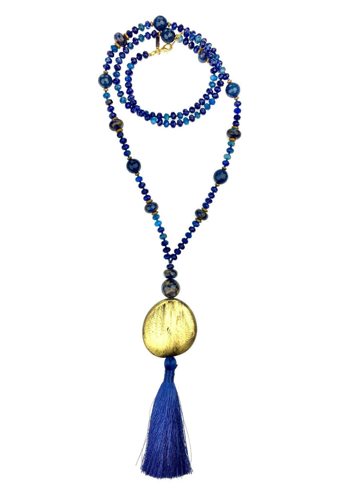 Necklaces - Jared Jamin  - Jared Jamin Online - Blue Genie Mala Necklace -  - 1