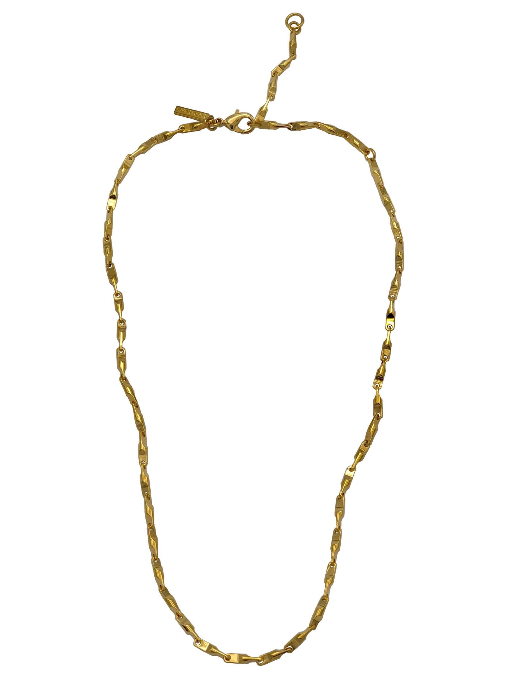 "Gold Bobby Bar-Link Chain-Necklaces-JAREDJAMIN Jewelry Online-18""-20""-22""-JAREDJAMIN - Fashion Jewelry & Accessories"