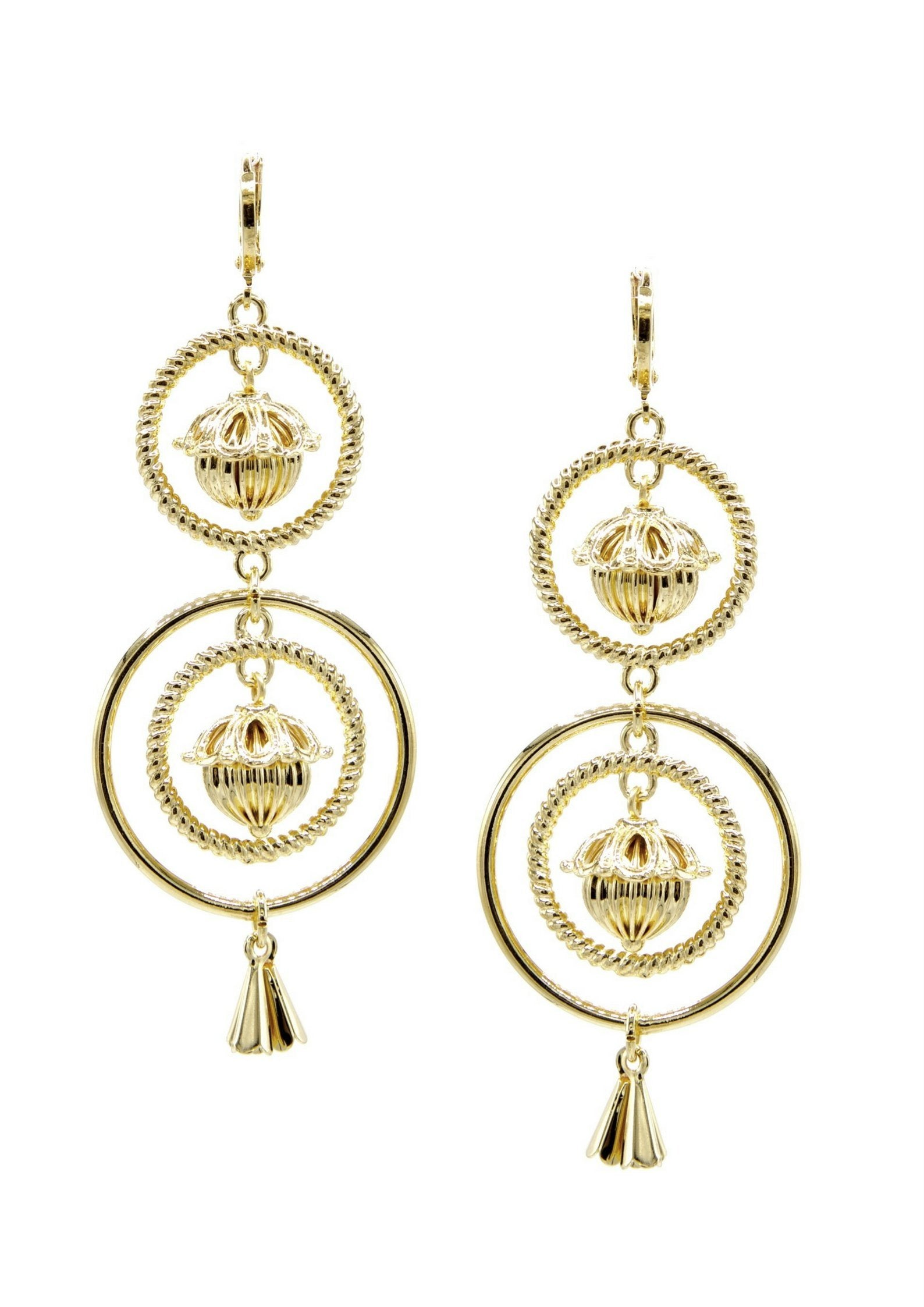Bollywood Dangle Earrings-Earrings-Jared Jamin Online-Gold-JARED JAMIN