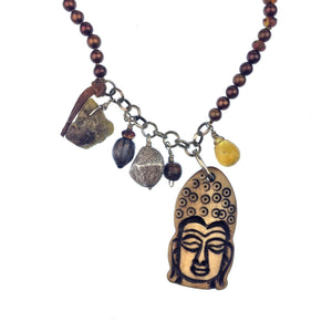 Buddah Meanderings Necklace-Necklaces-Jared Jamin Online-brown-JARED JAMIN