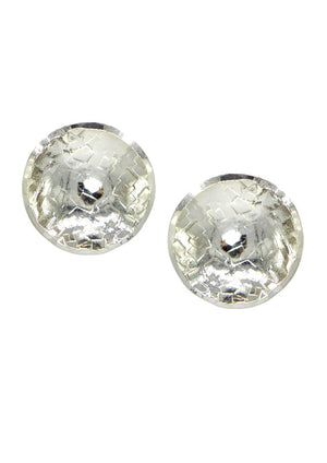 Buttercup Silver Textured Earrings-Earrings-Jared Jamin Online-Silver-JARED JAMIN
