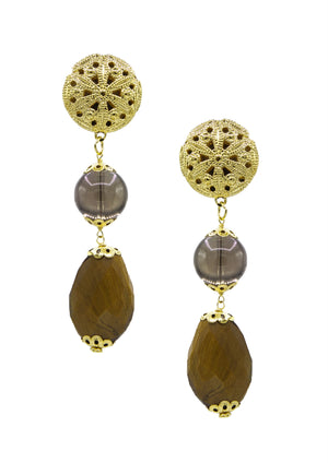 Caribou Club Earrings-Earrings-Jared Jamin Online-Gold-JARED JAMIN