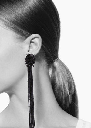 Cascade Beaded Clip Earrings-Earrings-Jared Jamin Online-JARED JAMIN