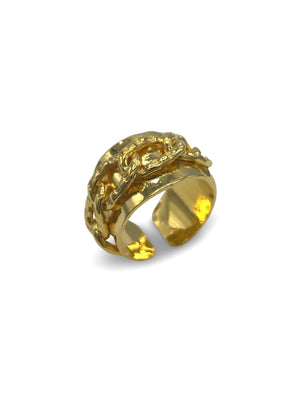 Gold Charlie Chain Mens Ring-Mens Rings-JAREDJAMIN Jewelry Online-JARED JAMIN