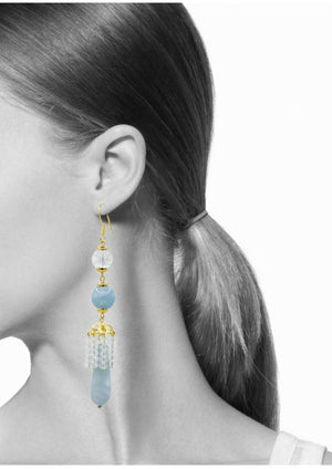 Cinderella Says Hook Earrings-Earrings-JAREDJAMIN Jewelry Online-Blue-JARED JAMIN