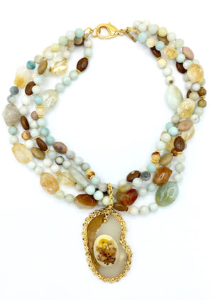 Dolce Multi-Gemstone Necklace-Necklaces-Jared Jamin Online-JARED JAMIN