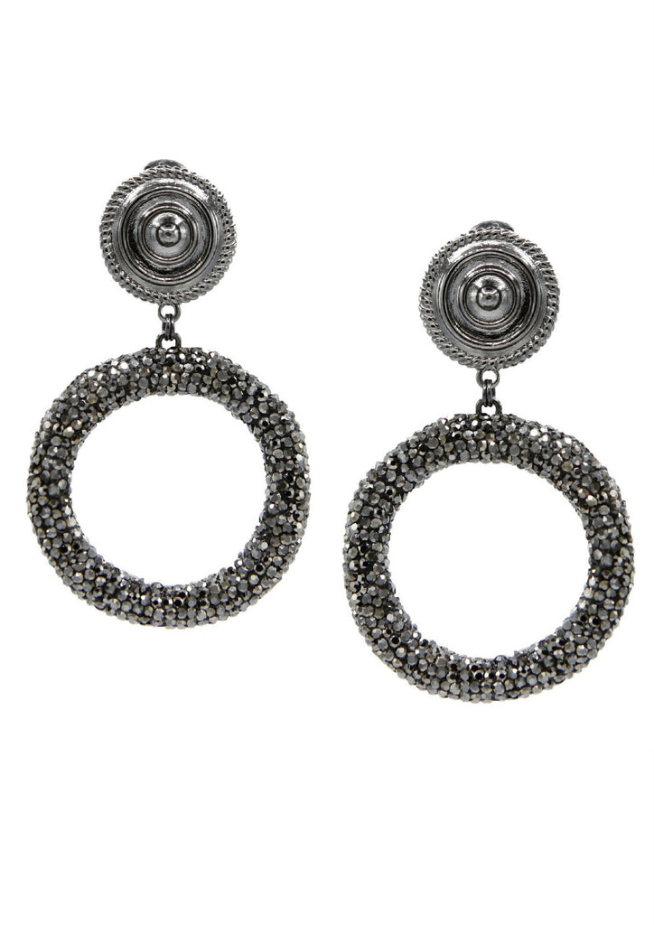 Dolly Pavé Clip Earrings
