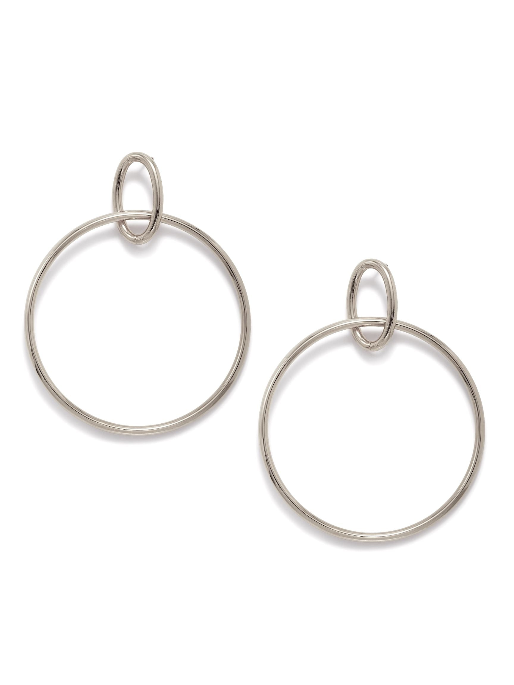 Silver Everly Dangle Hoop Earrings-Earrings-JAREDJAMIN Jewelry Online-JAREDJAMIN - Fashion Jewelry & Accessories