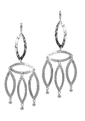 Gold Eyelet-Chandelier Earrings-Earrings-JAREDJAMIN Jewelry Online-White Rhodium-JARED JAMIN