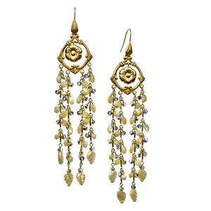 Floral Cascade Earrings-Earrings-JAREDJAMIN Jewelry Online-JARED JAMIN