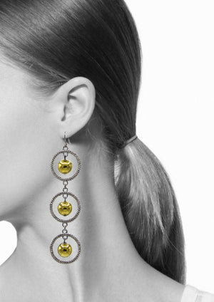 French Orrery Earrings-Earrings-Jared Jamin Online-Blk Rhodium / Gold-JARED JAMIN
