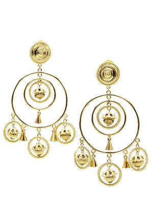 Bollywood Chandelier Clip Earrings-Earrings-Jared Jamin Online-Gold-JARED JAMIN