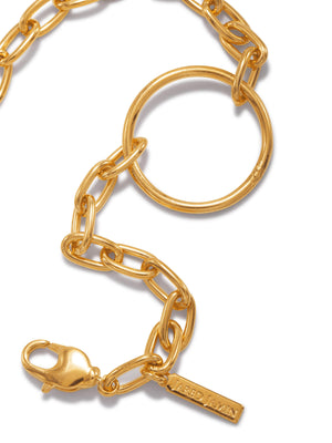Gold Chain Reaction Ellipse Bracelet-Bracelets-JAREDJAMIN Jewelry Online-JAREDJAMIN - Fashion Jewelry & Accessories