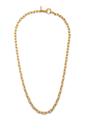 GOLD CHAIN REACTION NECKLACE-Necklaces-JAREDJAMIN Jewelry Online-18 inches-JARED JAMIN