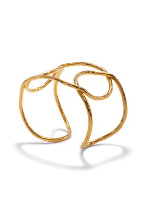 Gold Pretzel Cuff Bracelet-Bracelets-JAREDJAMIN Jewelry Online-JAREDJAMIN - Fashion Jewelry & Accessories