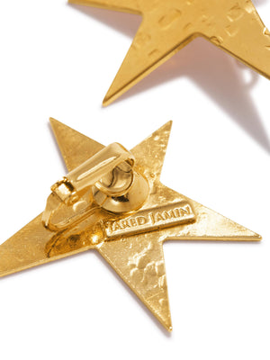 Gold Shooting Star Clip-on Earrings-Earrings-JAREDJAMIN Jewelry Online-JAREDJAMIN - Fashion Jewelry & Accessories