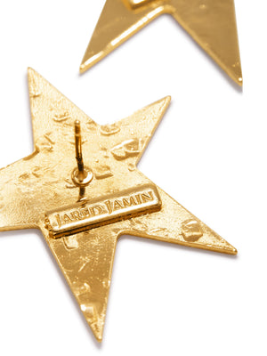 Gold Shooting Star Dangle Post Earrings-Earrings-JAREDJAMIN Jewelry Online-JAREDJAMIN - Fashion Jewelry & Accessories