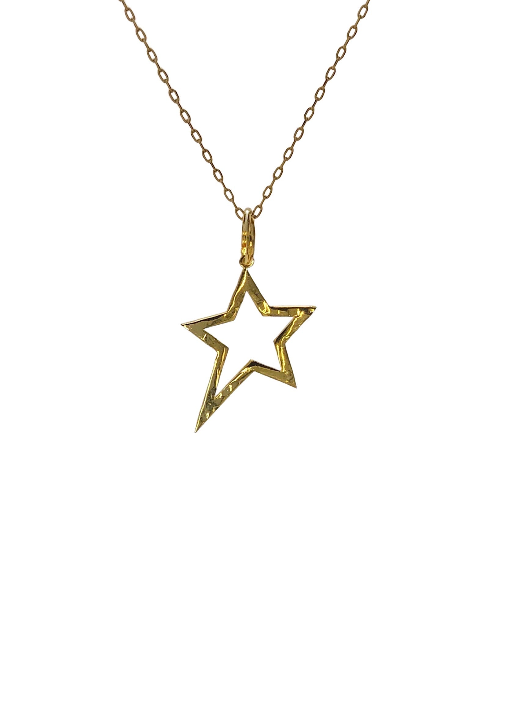 Gold Shooting Star Pendant Charm (sm)-Pendant Charms-JAREDJAMIN Jewelry Online-JARED JAMIN