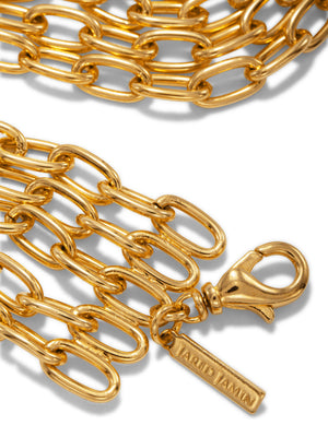 Gold Wide Chain Reaction Bracelet-Bracelets-JAREDJAMIN Jewelry Online-JAREDJAMIN - Fashion Jewelry & Accessories