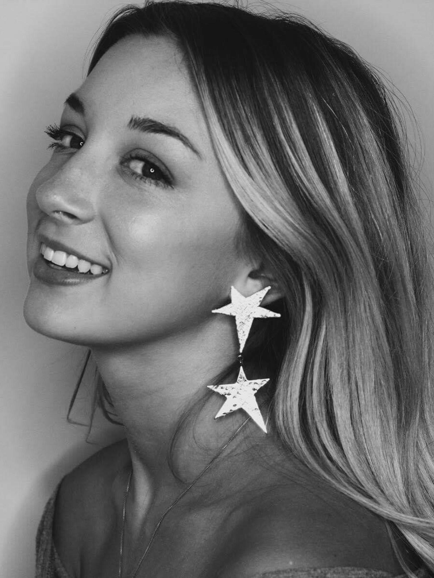 Silver Shooting Star Dangle Clip Earrings-Earrings-JAREDJAMIN Jewelry Online-JAREDJAMIN - Fashion Jewelry & Accessories