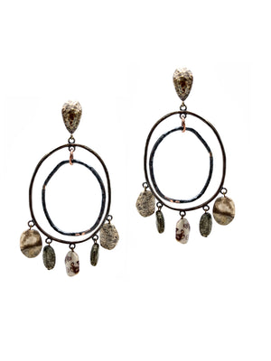 Go Boho Earrings Pyrite-Earrings-JAREDJAMIN - Fashion Jewelry & Accessories-JARED JAMIN
