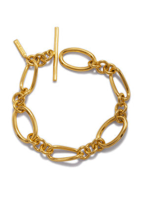 Gold Ophelia Chain Toggle Bracelet-Bracelets-JAREDJAMIN Jewelry Online-JAREDJAMIN - Fashion Jewelry & Accessories