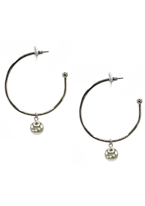 Medium Silver Orbita Hoop Earrings-Earrings-Jared Jamin Online-JARED JAMIN