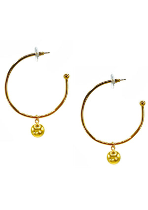 Medium Gold Orbita Hoop Earrings-Earrings-Jared Jamin Online-JARED JAMIN