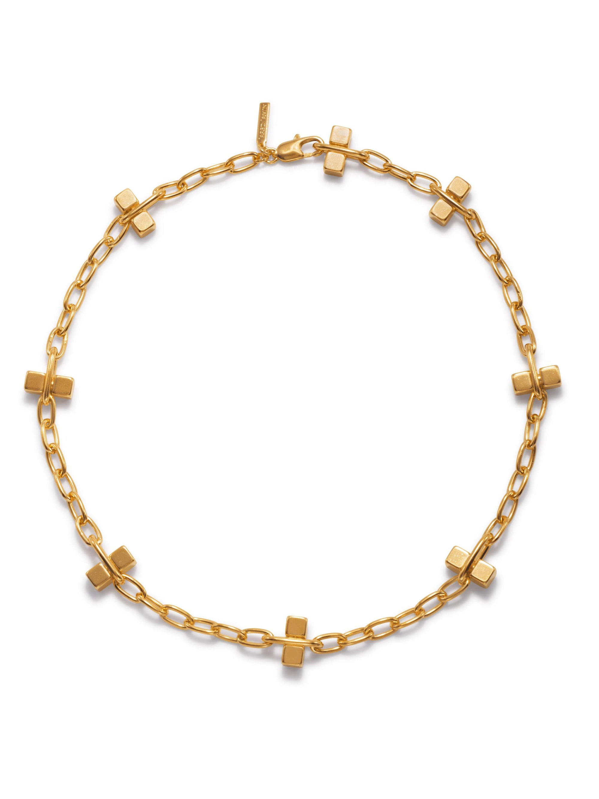 Gold Blockbuster Lite Choker Necklace-Necklaces-JAREDJAMIN Jewelry Online-24 inches-JARED JAMIN