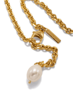 Gold Erato Chain Necklace with Pearl-Necklaces-JAREDJAMIN Jewelry Online-JARED JAMIN