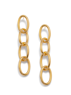 Gold Everly Drop Chain Earrings-Earrings-JAREDJAMIN Jewelry Online-JAREDJAMIN - Fashion Jewelry & Accessories