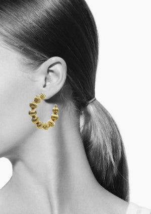 Medium Gold Lantern Hoop Earrings-Earrings-Jared Jamin Online-18K Gold-JARED JAMIN