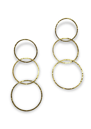 Gold Halo Lindy Links Earrings-Earrings-Jared Jamin Online-JARED JAMIN