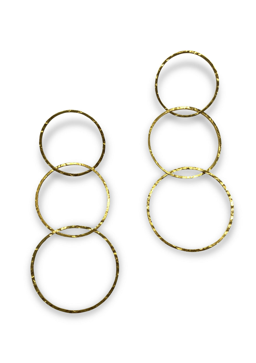 Gold Lindy Links Earrings-Earrings-Jared Jamin Online-JARED JAMIN